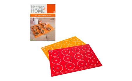 Silicone Baking Mats - Set of 2 Non-stick, BPA Free Food Grade Mats