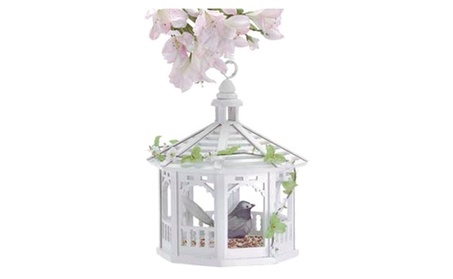 Bird Feeder Lovely Gazebo with Gingerbread Moulding and Greenery (Goods Outdoor Décor Bird Feeders & Baths) photo