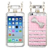 Insten Hard 3D Case Chain W/diamond For Apple Iphone 6 Pink/silver