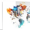Color My World Map Metal Wall Art 28x12