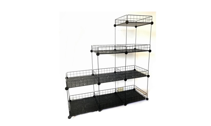Etonnant Grid Wire Modular Shelving And Storage Cubes, Easy Assembly ...