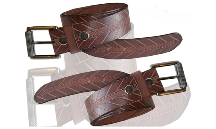 Genuine Leather Brown Knotted Belt