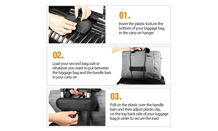 Lightweight and Durable Travel Bag Accessories Lcgs Bag Bungee 2 Pack Luggage Straps Suitcase Adjustable Belt
