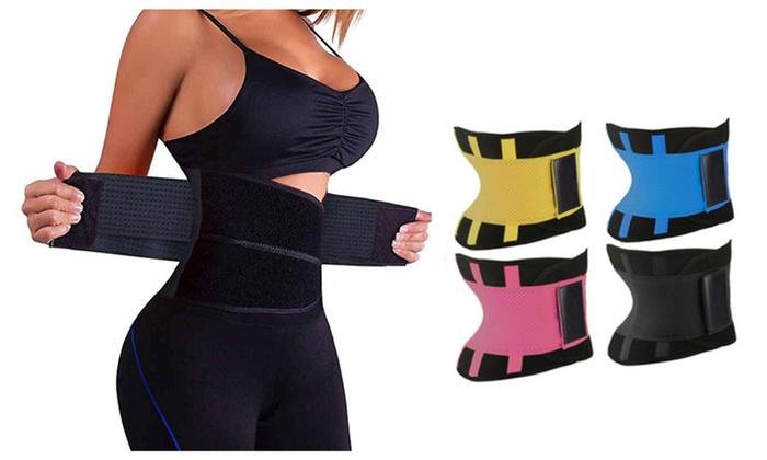 7521546a51 Waist Trainer Cincher Elastic Waist Shaper Slimming Belt Shapewear ...