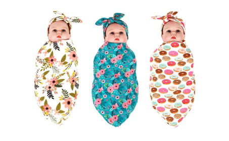 Blankets and Headband Set for Newborn Baby Girl and Boy 394aea0a-f2ac-414e-9d1a-982a4f7dff27