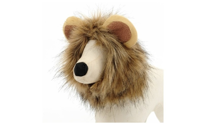 65a3e57d7 Up To 76% Off on Pet Dog Cat Costume Lion Mane... | Groupon Goods