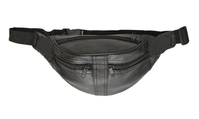 Genuine Leather Slim Waist Pouch, Fanny Pack, Unisex Design