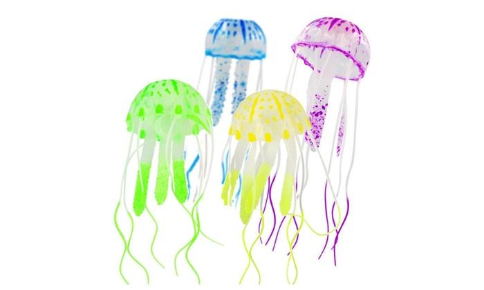 5 Cm Artificial Silicone Jellyfish For Fish Aquarium Decoration