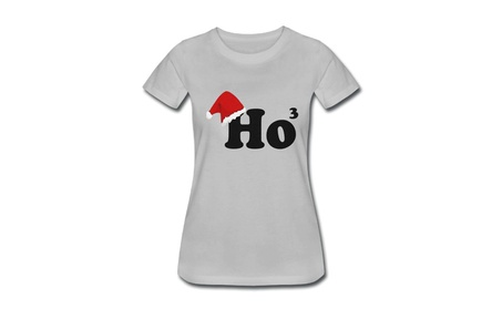 Ladies Ho3 Christmas - Sport Grey Gray Adult Stand T-shirt Gray fc524477-1cdd-4ac3-aac9-77a2a3808e58