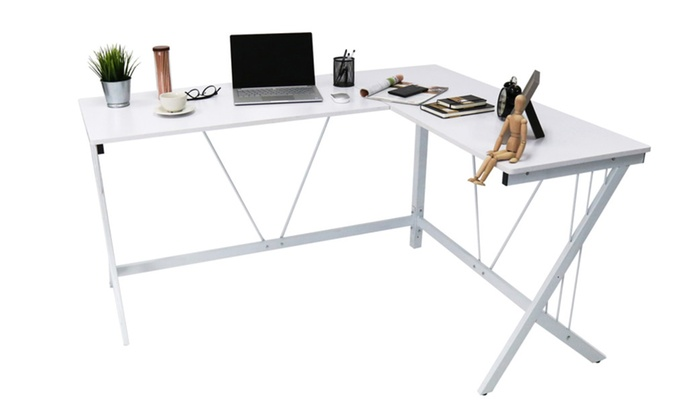L Shape Corner Office Computer Desk PC Laptop Table Workstation Home ...
