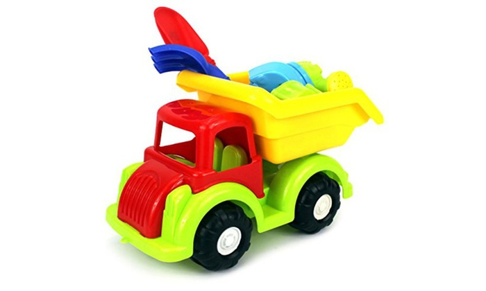 groupon goods beach dump truck toy truck playset colors may vary - Toy Dump Trucks