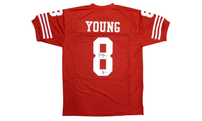 best loved 7ac4c 01175 Autographed Steve Young San Francisco 49ers Red Custom Jersey