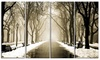 Fog in Alley Vintage Style - Landscape Photo Canvas Print