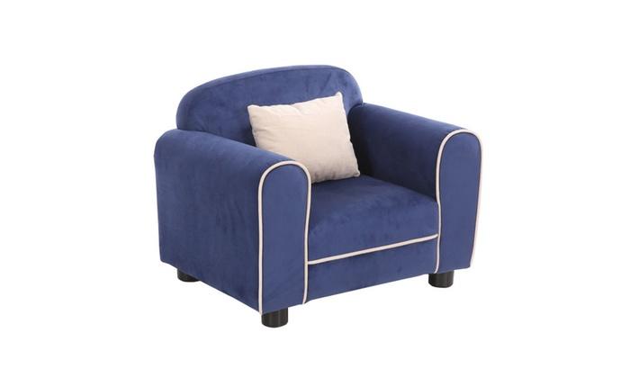 Blue Kids Sofa Armrest Chair Children Toddler Living Room ...