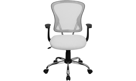 Flash Furniture H-8369F-WHT-GG White Mesh Executive Office Chair