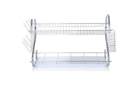 Kitchen Dish Cup Drying Rack Holder Sink-Drainer 2 Tier-Dryer-Stainle 31440f7c-57d1-4e0b-a74f-110fdacd745f