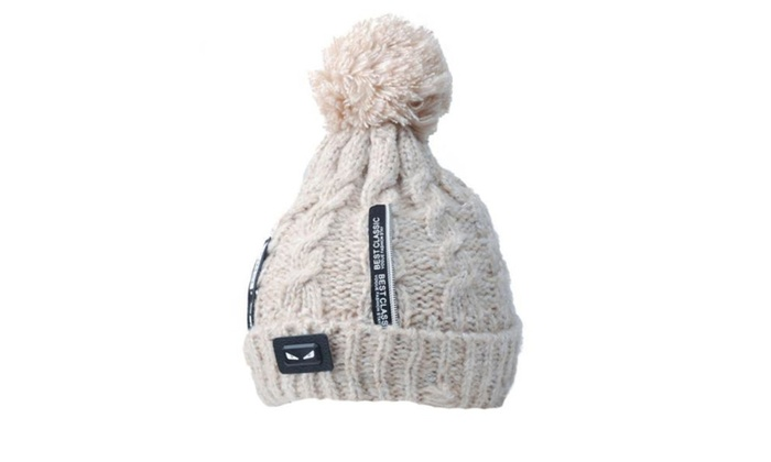 Women's  Pom at top Solid Casual None Woollen Hat