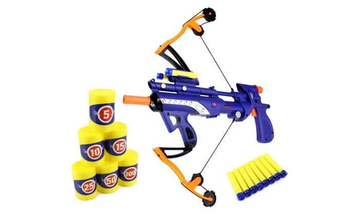 FDX Crossbow Gun Children's Kid's Toy Foam Dart Gun (Colors May Vary