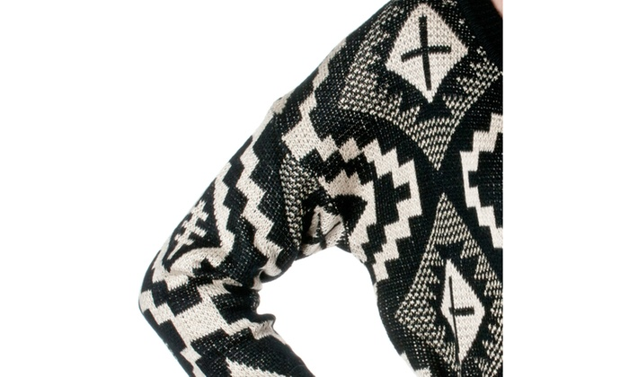 Pol clothing cotton blend patterned sweater cl96 groupon for Pol junior design