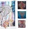 Mandala-Style Elephant Fabric Wall Tapestry