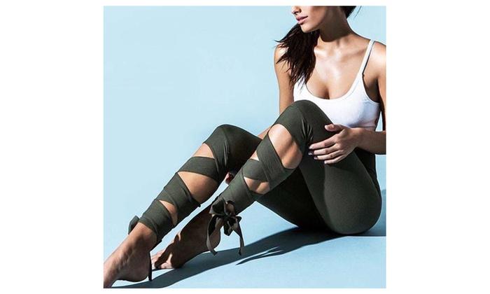 Winding Type Yoga Pants Jogging Gym Running Tights