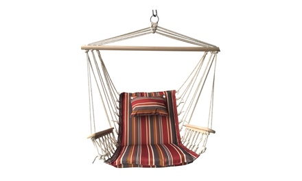 Backyard Expressions Hammock Chair with Wooden Arms