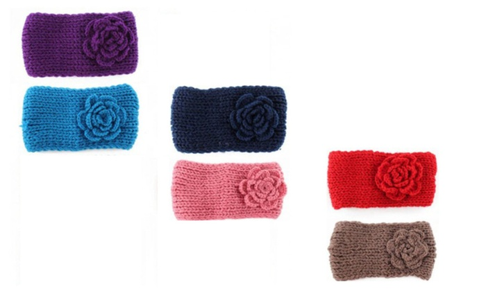 6-Pack Button Closure Celebrity Pre-Madonna Knitted Headband