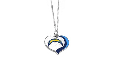 San Diego Chargers NFL Glitter Heart Necklace Charm Gift 9433d806-54a4-42d7-bdc2-72731498c78b