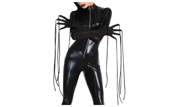 Women's lady Fashion Slim Fit Long Sleeve Zipper Cosplay Costume