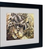 Umberto Boccioni 'The Charge of the Lancers 1915' Matted Black Framed Art