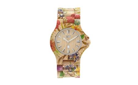 Natural Maple Wood Flower Design Watch d2fad055-7043-442d-a668-fe410c7418d6