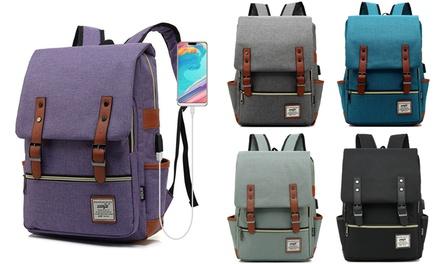 All Purpose Bag Rucksack Stonewashed Black Cotton Canvas Men Women Backpack Overnight Bag School Bag Messenger B6 Travel Bag