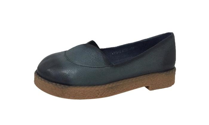 Women's Handmade Leather Slip On Shoes