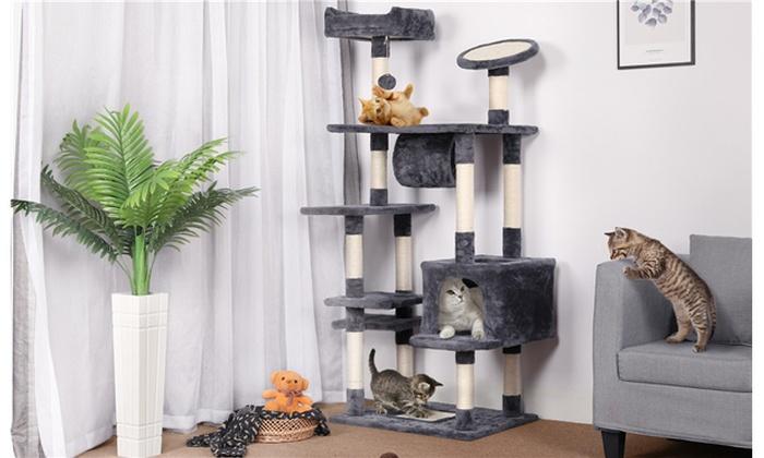62 Large Cat Tree Tower W Condo