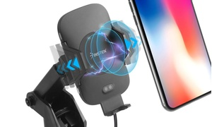 Insten Auto Open Windshield Wireless Charger Mount For Smartphone