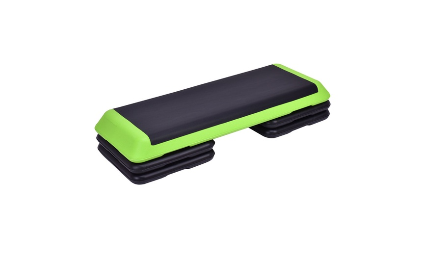 """Aerobic Step 43/"""" Exercise Adjustable 4/"""" 8/"""" Fitness Stepper Risers Workout 6/"""""""