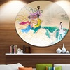 Classical Chinese Painting' Disc Abstract Circle Metal Wall Art