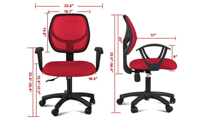 Sensational Up To 56 Off On Red Orange Adjustable Swivel Groupon Ncnpc Chair Design For Home Ncnpcorg