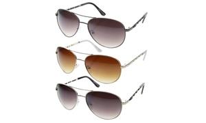 MLC Eyewear Vintage Fashion Leather Braided Aviator Sunglasses S61NGW3101