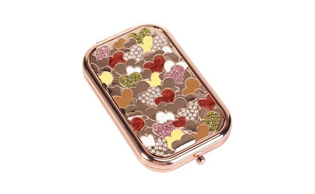 Nerien Women's Foldable Cute Princess Style Cosmetic Purse Mirror - Heart (Goods Health & Beauty Cosmetics Mirrors & Tools) photo
