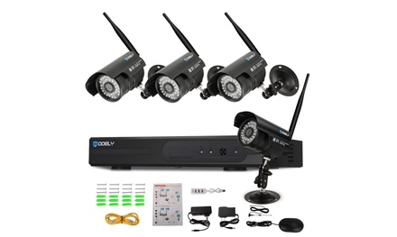 8CH 960P NVR Kit Outdoor Surveillance System w/4 Security Cameras Was: $289.99 Now: $156.99