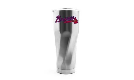 MLB Stainless Steel Travel Tumbler with Swirl Base & Clear Lid - 30 oz. fd338db4-0cbf-4c9a-868a-c47366cfaef8