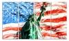 Lady Liberty on US Flag Metal Wall Art 48x28 4 Panels