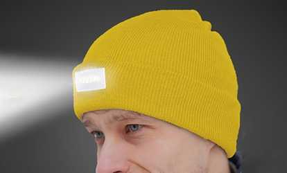 943a1ca6738 Shop Groupon LED Headlamp Beanie for Men and Women (1-