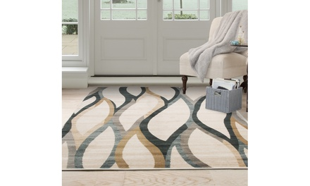 Lavish Home Opus Contemporary Curves Area Rug