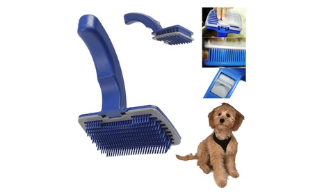 Pet Grooming Self Cleaning Slicker Brush Comb Shedding Tool Hair Fur 2ab5fa56-66bf-44e1-adba-5370052dc1eb