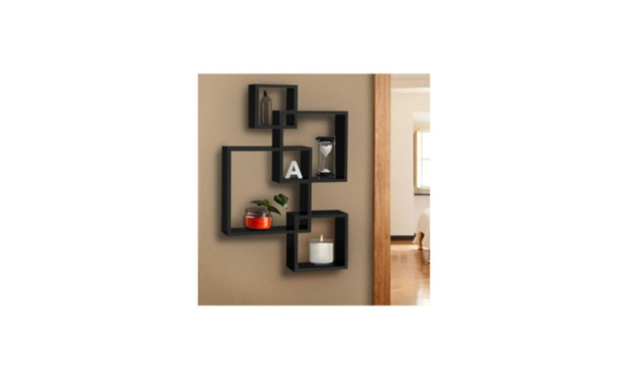 Super Squares Shelf Wall Mounted Home Decor Furniture Intersecting