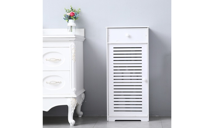 Single Door Compartment with Drawer Bathroom Storage Floor Cabinet Free Standing