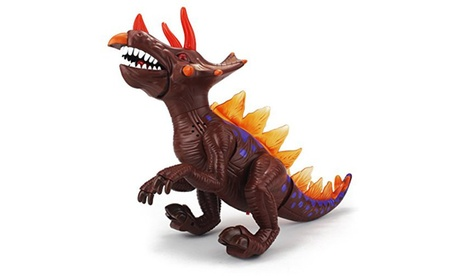 Dinosaur Universe Triceratops Battery Operated Walking Toy Dinosaur Figure c7cd5cf2-e1b4-486e-a085-b6d362266cd3