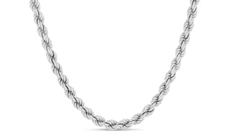Men's Sterling Silver 120 Gauge Rope Chain 6a71069d-9835-4329-8dbe-ada5582a0bc1